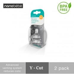 Nanobebe Replacement Nipple - Dot Y Cut 6M+