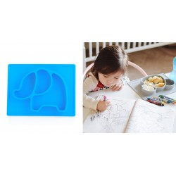 Nuby Mini Silicone Placemat 6m+ - Blue Elephant