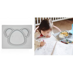 Nuby Mini Silicone Placemat 6m+ - Grey Koala