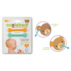 Oogiebear Ear & Nose Cleaner 2 Pack - Orange...
