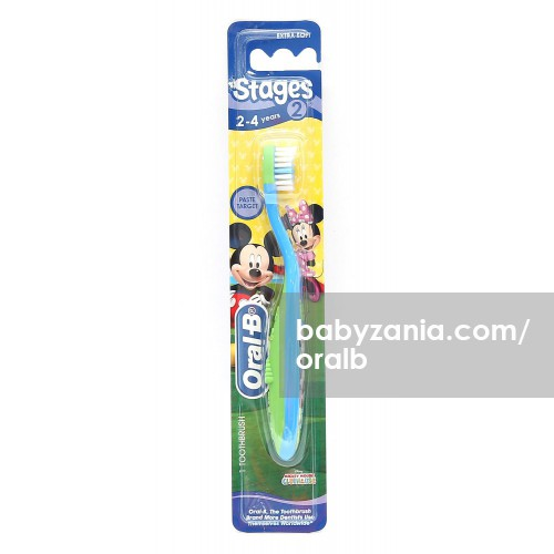 Oral-B Sikat Gigi Bayi Stages 2 (2-4 Years) Boy - Color May Vary