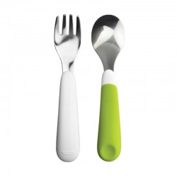 OXO Tot Fork & Spoon Set - Green