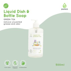 Pureco Liquid Dish and Bottle Soap Green Tea Home...