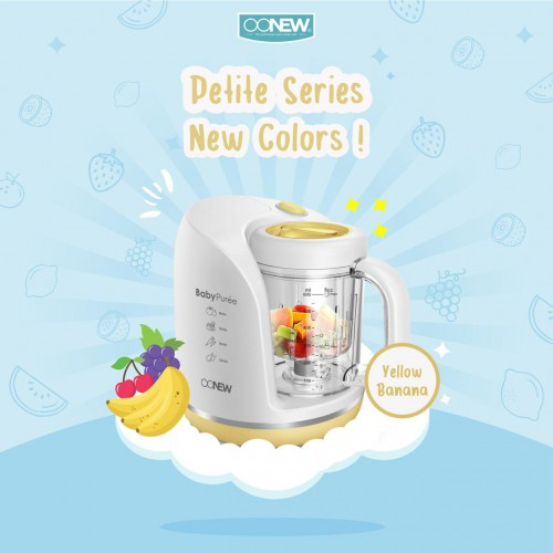 OONew Petite Series 4 in 1 Baby Food Proccesor - Yellow/Purple (FREE Pasta Cooker + Carrier Bag)