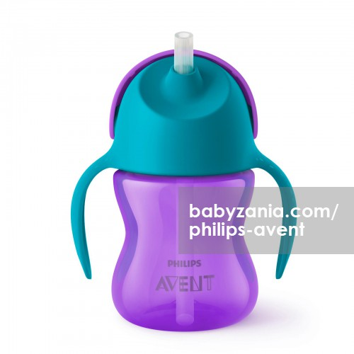 Philips Avent Straw Cup Single Girl 200 ml - Green Purple
