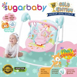 Sugar Baby Gold Edition Premium Swing Bouncer -...