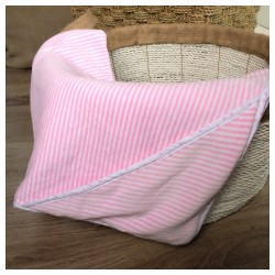Little Palmerhaus Stripes Hooded Blanket - Pink...