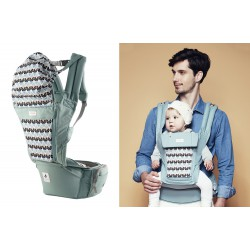 Pognae Orga Plus+ Hipseat Baby Carrier - Cabbage
