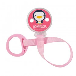 Puku Pacifier / Soother Clipper - Pink