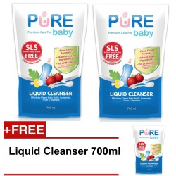 Pure Baby Liquid Cleanser Refill 700ml - Buy 2...