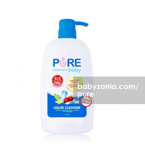 Pure Baby Liquid Cleanser Pump 700ml FREE Refill 450ml