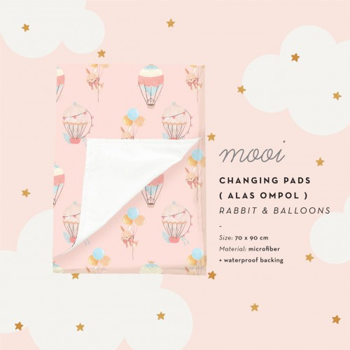 Mooi Changing Pads Rabbit and Balloons