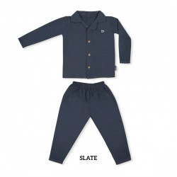 Little Palmerhaus Toddler Pajamas Set - Slate