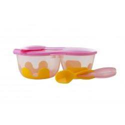 Bbox Snack Pack With Spoon - Pinkalily