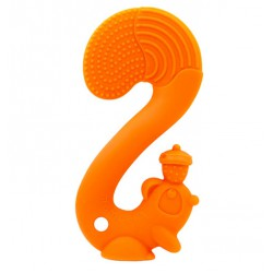 Mombella Squirrel Soothing Teether - Orange