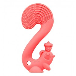 Mombella Squirrel Soothing Teether - Red