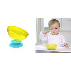 Kidsme Stay in Place with Bowl Set - Sky Lime Bowl
