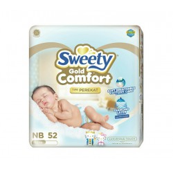 Sweety Popok Bayi Comfort Gold Tape - NB 52