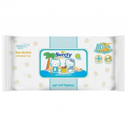 Sweety Baby Wipes Non Perfumed - 80+4 Sheet