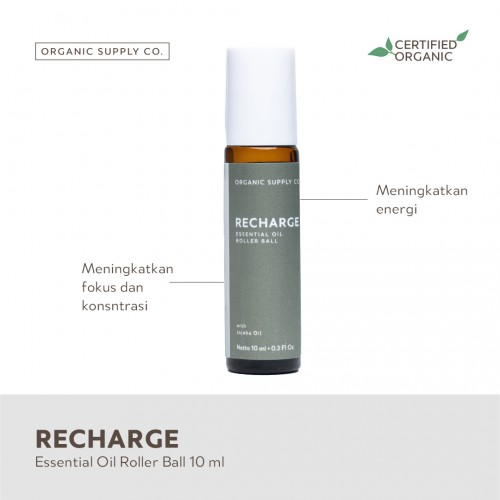 Organic Supply Co Essential Oil Roller Ball 10 ml - Recharge