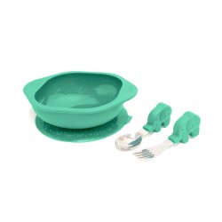 Marcus & Marcus Toddler Mealtime Set - Ollie Elephant Green