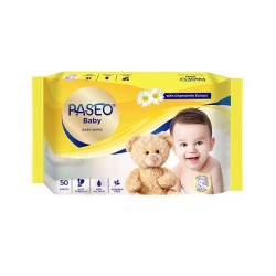 Paseo Baby Wipes with Chamomile Extract Tissue...