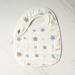 Little Palmerhaus Snappy Bib - Twinkle in Blue