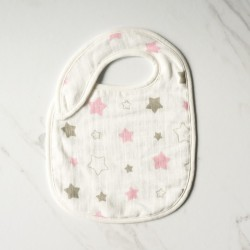 Little Palmerhaus Snappy Bib - Twinkle in Pink