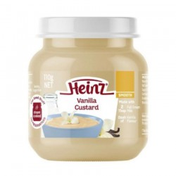 Heinz Smooth Vanilla Custard 110gr - 6m+