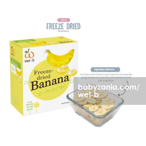 Wel-B Freeze Dried Snack Anak 30 gr - Banana