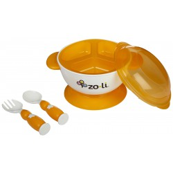 Zoli Stuck Suction Feeding Bowl Kit - Orange