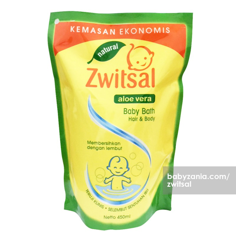Zwitsal Natural Baby Bath 2 in 1 Hair & Body Refill - 450 ml