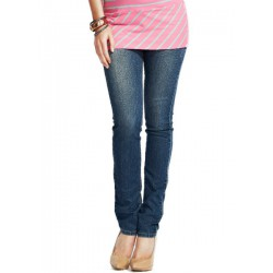 Mamaway Narrow Tube Vintage Jeans - Blue