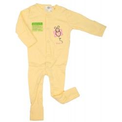Imochi Sleepsuit Panjang - Yellow Butterfly