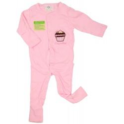 Imochi Sleepsuit Panjang - Pink Cupcake