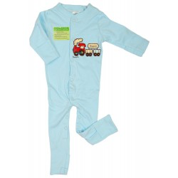 Imochi Sleepsuit Panjang - Blue Train