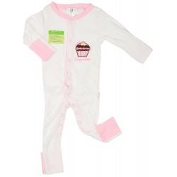 Imochi Sleepsuit Panjang - Pink White Cupcake