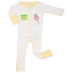 Imochi Sleepsuit Panjang - White Yellow Butterfly