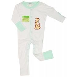 Imochi Sleepsuit Panjang - Putih Hijau Giraffe