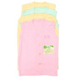 Imochi Baju Tangan Buntung (Warna) 4 Pack - Girl