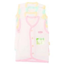 Imochi Baju Tangan Buntung (Putih) 4 Pack - Girl
