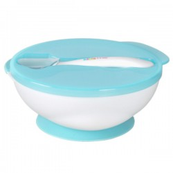 Kidsme Suction Bowl With Ideal Spoon Set - Blue