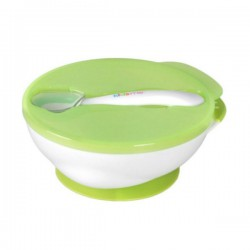 Kidsme Suction Bowl With Ideal Spoon Set - Green