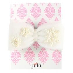 Pita Fufu Snowflake Headband - White