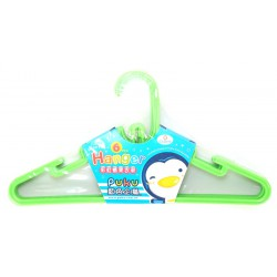 Puku Kids Hanger 6 Pcs - Green