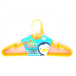 Puku Kids Hanger 6 Pcs - Yellow