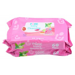 Pure Baby Cleansing Wipes Tea Olive 60's Buy 1...